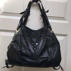 Vercase Python leather tote